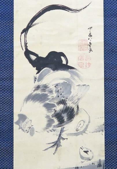 伊藤若冲-群鶏図