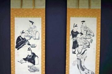 伊藤若冲-歌仙双幅図