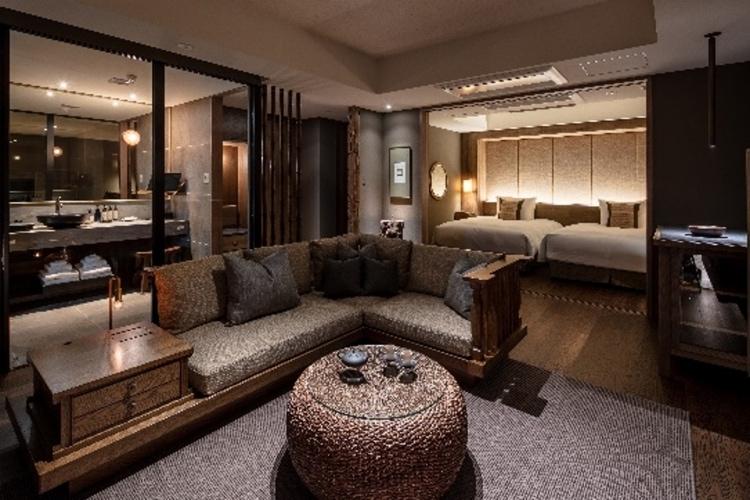 隈研吾による建築デザイン-ふふ奈良室内