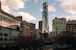 56 Leonard Street building of Tribeca at sunset