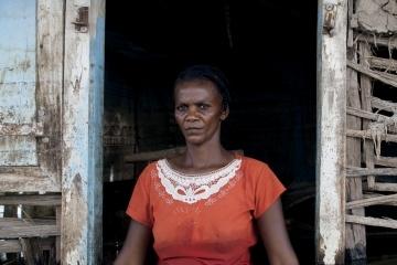 Haiti - Climate Change - Portrait of a hurricane victim