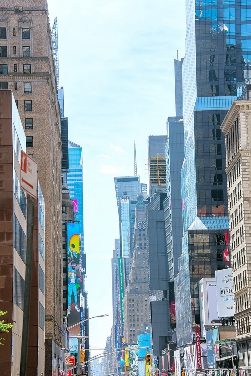 Looking down 7th Ave. from 54th st. NY