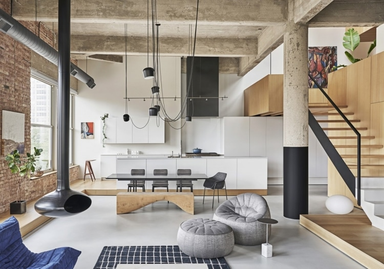 adf-web-magazine-dezeen awards 2019 interiors longlist michigan loft, chicago, us, by vladimir radutny architects 2