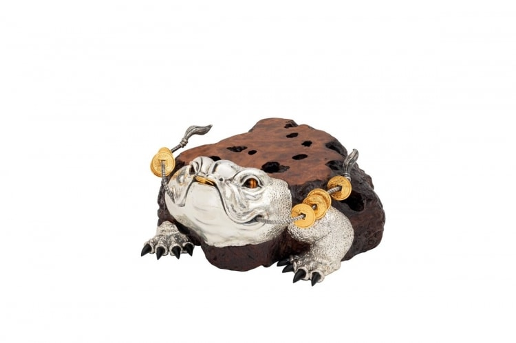 adf-web-magazine-6. wooden lucky toad sculpturetable