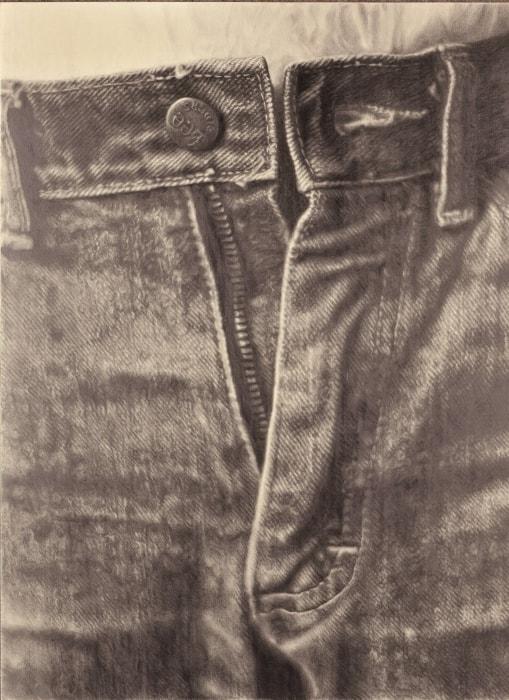 《ジーンズ》1983 鉛筆、紙