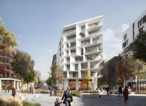 デンマークの建築事務所AARTが手がけた紙を模したランドマークがノルウェー製紙産業の町に誕生