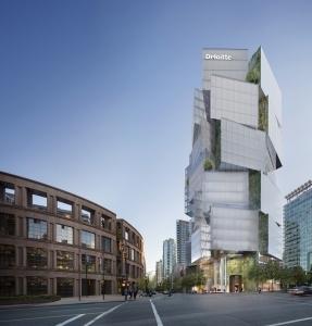 電動ブラインドがひき出す、Deloitte Summit Towerの魅力
