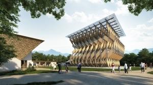 """GREENable HIRUZEN"", A New Sustainable Landmark Designed by Kengo Kuma Opens in Maniwa City, Okayama"
