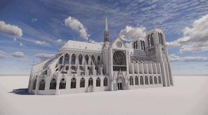 ノートルダム大聖堂の修復にデジタル技術にAutodeskのBIMを採用