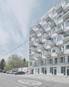 ウィーンにインパクトのある外観デザインのサービスアパートメントが建築