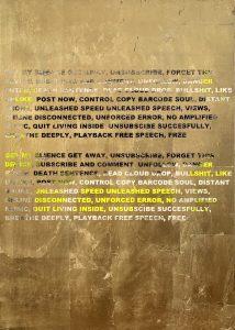 ステファン・ブルッゲマンの3年ぶりの個展「ALLOW ACTION(GOLD PAINTINGS)」が六本木KOTARO NUKAGAにて開催