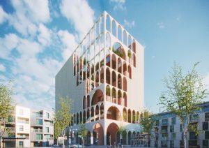イランのバザールをイメージした複合施設が都市の緑化に貢献