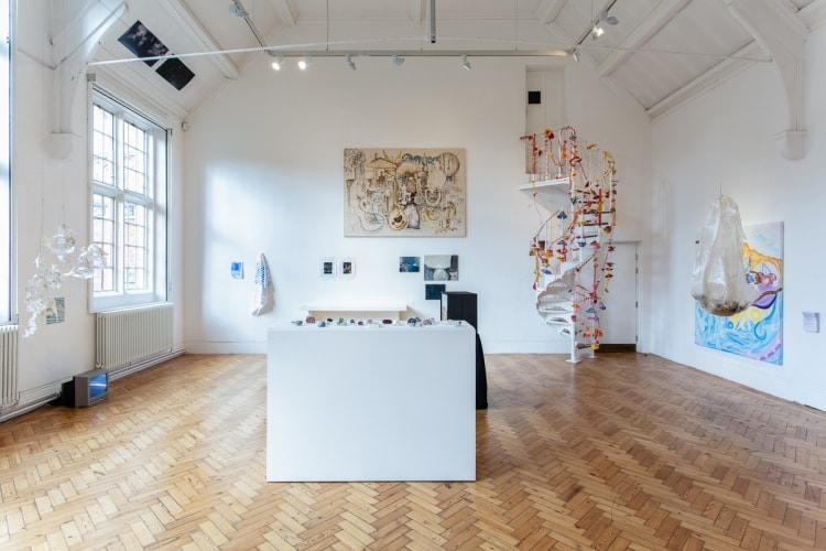 adfwebmagazine-Installation view of London Summer Intensive_Work in Progress at Camden Arts Centre. Courtesy Camden Arts Centre and Slade School of Fine Art. Photo_ Rob Harris