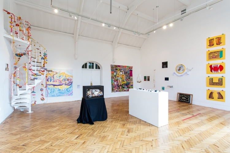 adfwebmagazine-Installation view of London Summer Intensive_Work in Progress at Camden Arts Centre. Courtesy Camden Arts Centre and Slade School of Fine Art. Photo_ Rob Harris3